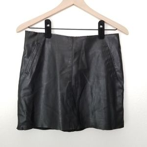 Zara faux leather mini skirt - size S